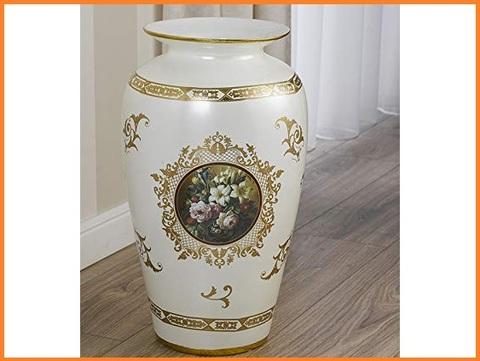 Portaombrelli in ceramica avorio