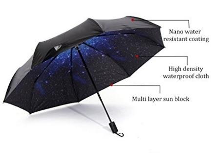 Ombrello robusto con cielo stellato