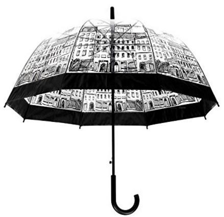 Ombrello trasparente stile cupola palazzo