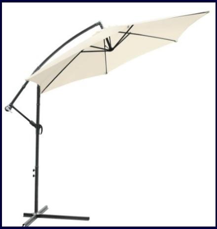 Ombrellone parasole regolabile per il giardino 2 metri