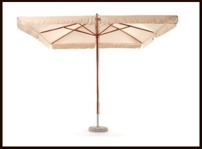 Ombrellone in legno dal design classico