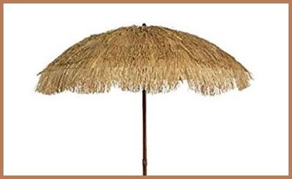 BAIYI Ombrello da Spiaggia Semplice A Manovella Esterno Ombrellone A Paglia Simulato Ombrellone da Paglia Hawaiano Balcone Giardino Spiaggia Ombrellone