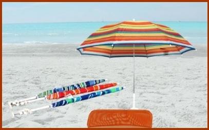 Ombrellone Multicolore Per La Spiaggia