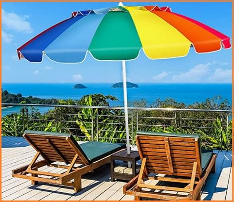 Ombrelloni Spiaggia Portatili Colorato