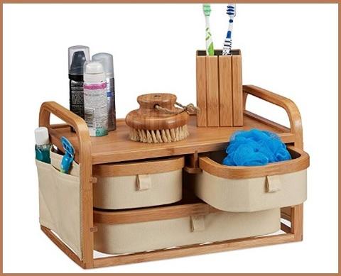 Organizer bagno legno