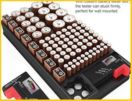 Organizzatore Con Slot Per Batterie Stilo