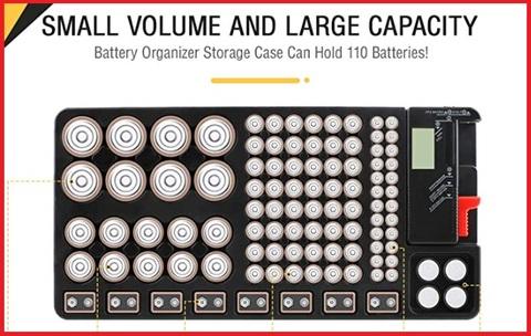 Scatola Per Contenere Batterie Con Tester Rimovibile