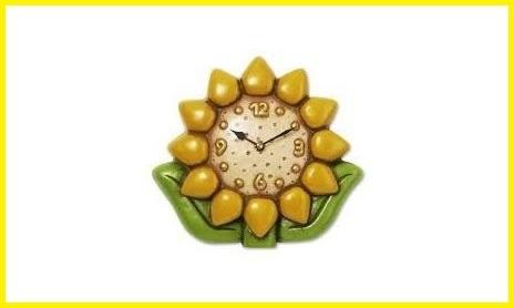 Orologio da parete thun girasole