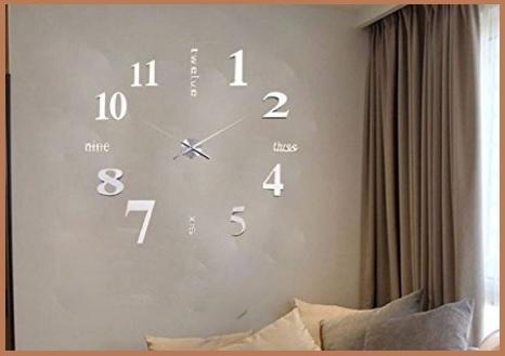 Orologio Parete Adesivi 3d