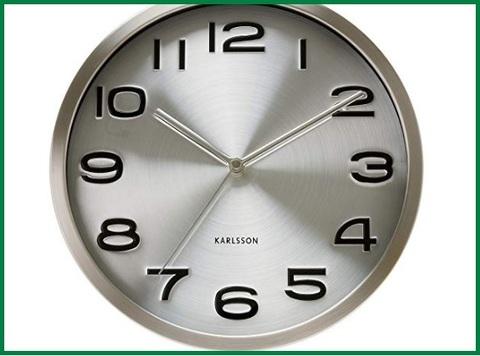 Orologio da parete moderni in acciaio - Sconto del 18 ...