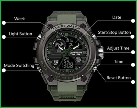 Orologio digitale militare