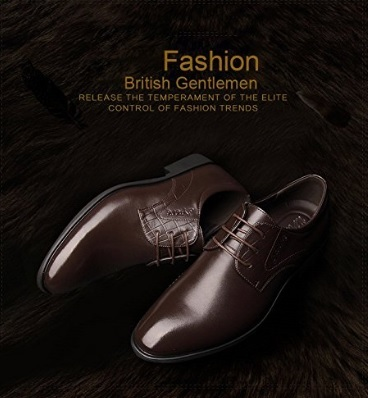 Scarpe lucida da uomo a punta eleganti marroni
