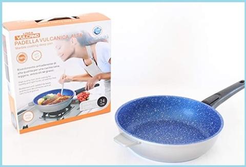 Padella blu wok vulcanica