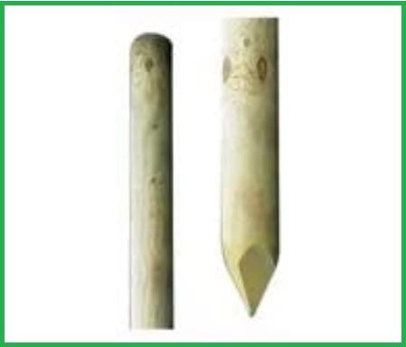 Pali in legno tondo