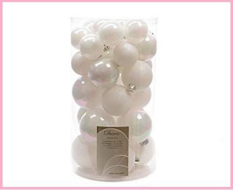 Palle Di Natale Bianche Perla