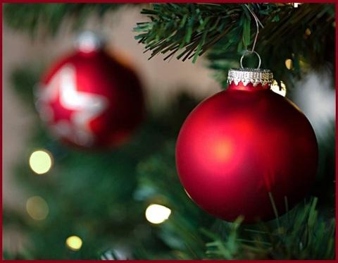 Palle Di Natale Rosse Vetro