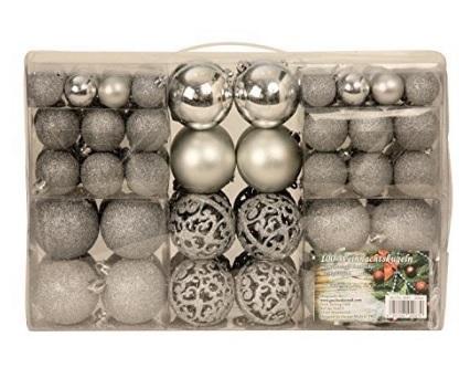 Confezione di palle natalizie eleganti e raffinate