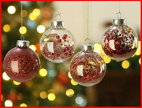 Palle Di Natale Trasparenti Plastica