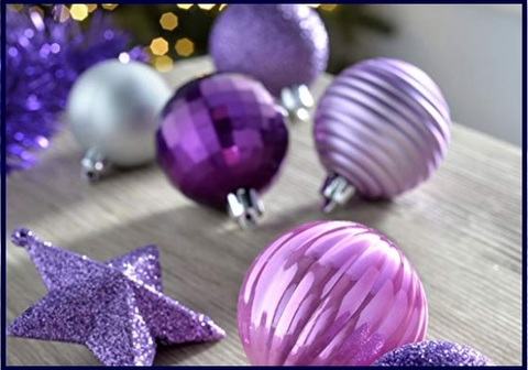 Palle Di Natale Viola Decorative