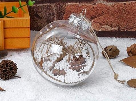 Palle Di Natale Legno Bianco Pendente