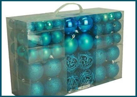 Palle Di Natale Turchese Blu