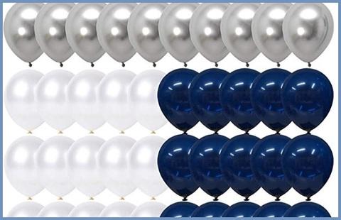 Palloncini blu argento