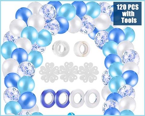 Palloncino blu bianco