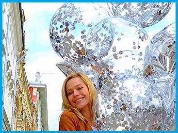 Palloncini coriandoli argento
