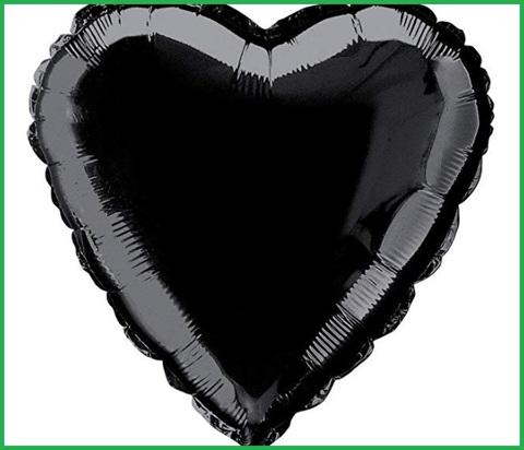 Palloncini cuore nero