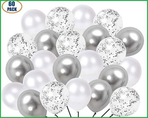 Palloncini glitter argento