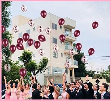 Palloncini glitter rossi