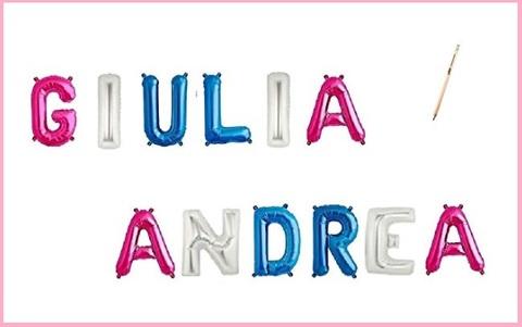 Palloncini lettere nome