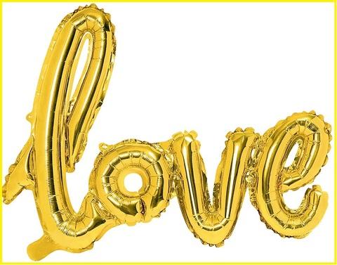Palloncino love oro