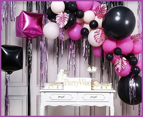 Palloncini neri e rosa