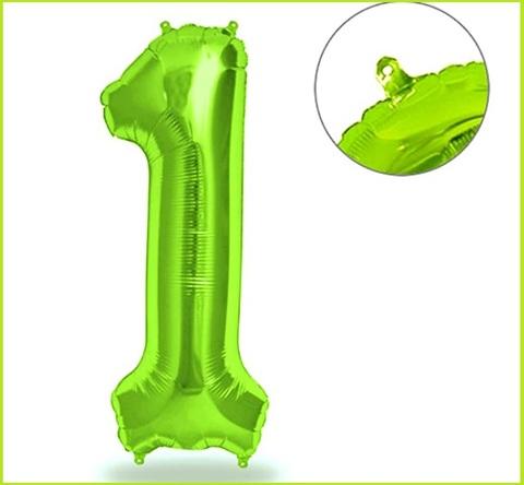 Palloncino numero 1 verde