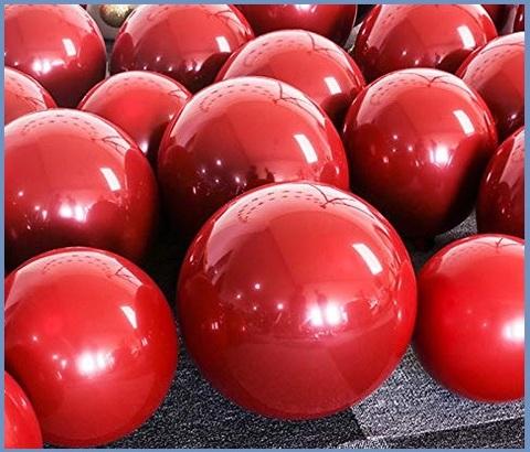 Palloncini rossi metallizzati