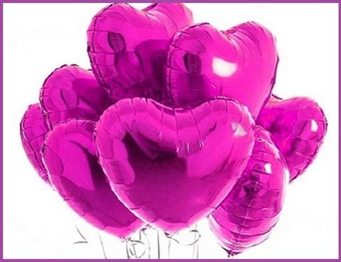 Palloncini san valentino rosa