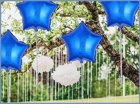 Palloncini stella blu