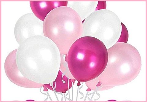 Palloncini viola e rosa