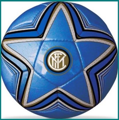 Pallone ufficiale con simbolo a stella della squadra inter
