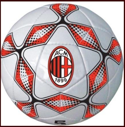 Pallone cuoio da calcio della squadra milan