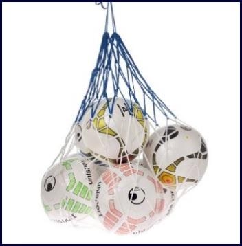 Rete per tenere 12 palloni