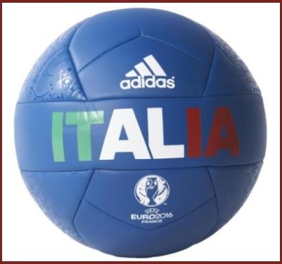 Pallone classico blu italia con sponsor adidas