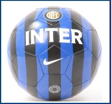 Pallone originale blu e nero nike della squadra inter