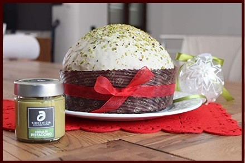 Pandoro farcito granella di pistacchio