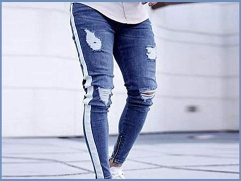 Pantaloni slim fit strappati