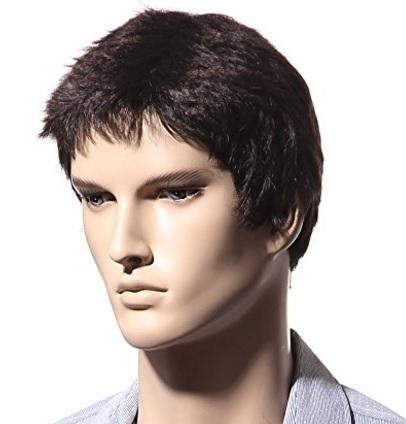 Parrucca Da Uomo Corta In Fibra Sintetica