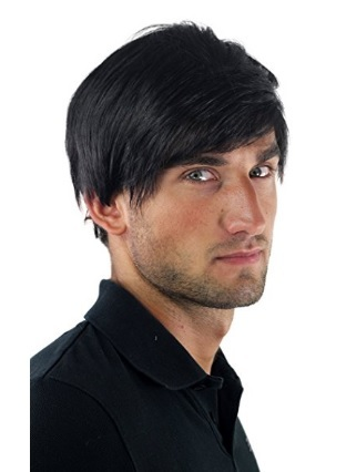 Capelli finti parrucca con riga laterale