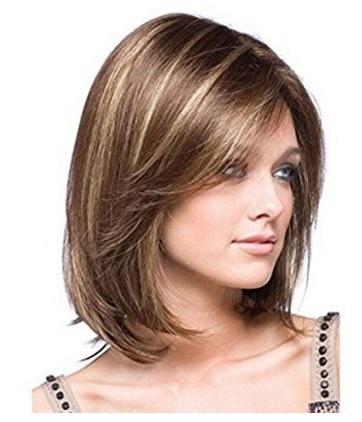 Capelli lunghi parrucca sintetica da donna