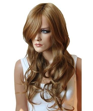 Capelli lunghi ondulati resistenti parrucca da donna